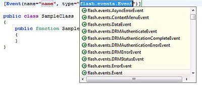 Eventメタデータのイベントタイプに指定する値の入力候補