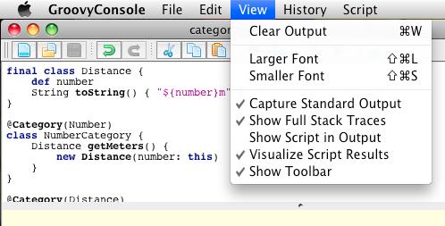 Swing console: visualization options