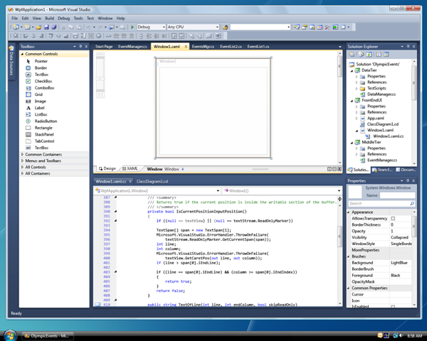 Visual Studio 2010 UI