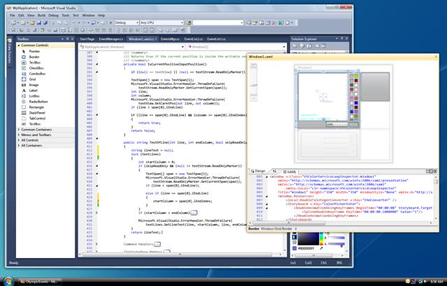 Visual Studio 2010 UI Floating Documents