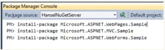 Example of a future dialog box with Nuget