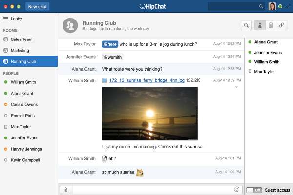 HipChat User Interface (OSX)