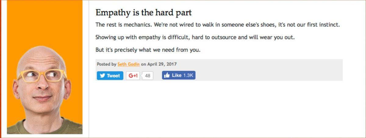 Seth Godin on Empathy