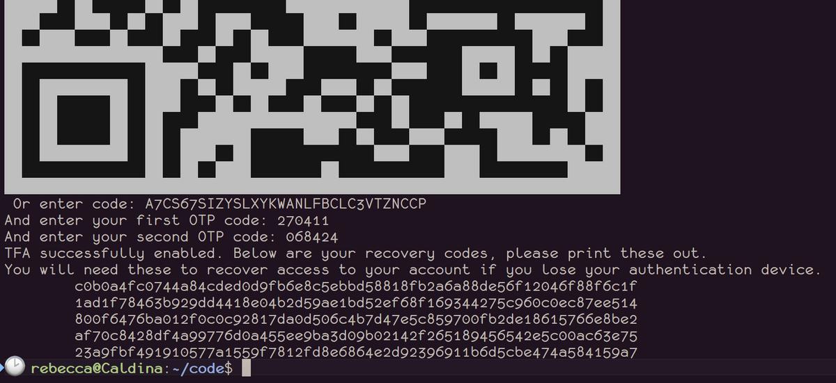 Screenshot showing the process of enabling 2FA on an npm profile