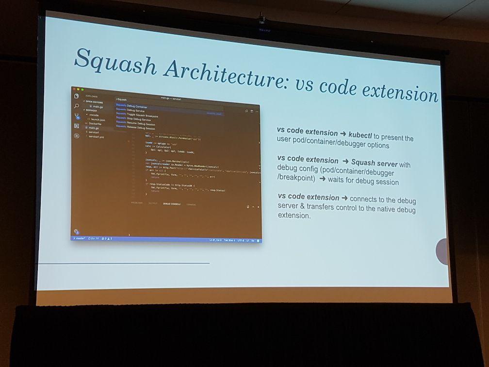 Squash microservices debugger architecture