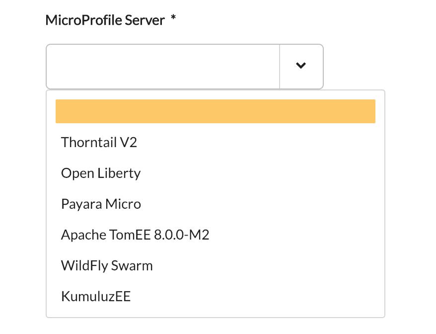 MicroProfile 1.2 servers
