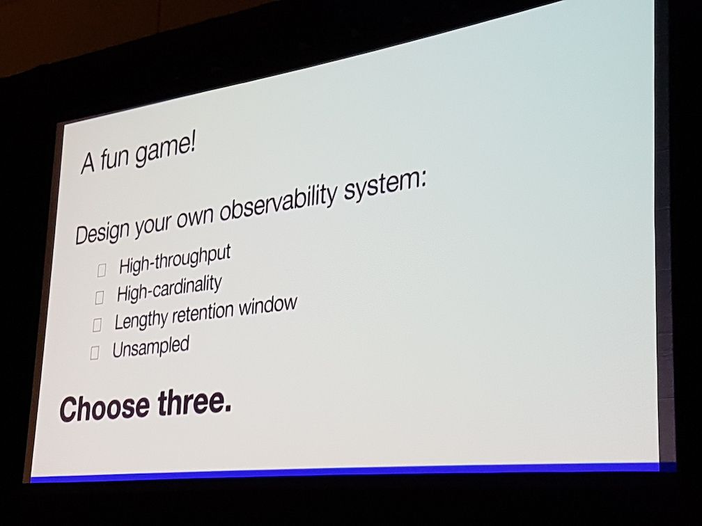 Observability -- choose three out of four properties.