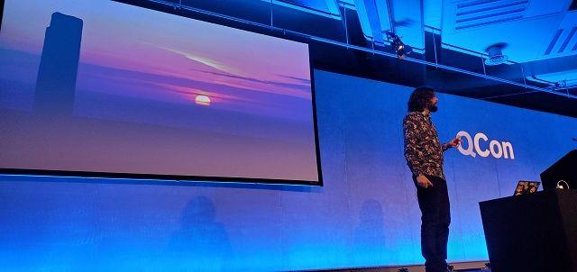 Sam Newman speaking at QCon London 2020