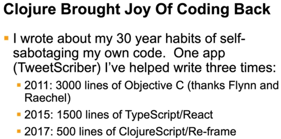 Figure 4: Lines of code comparison by Gene Kim
