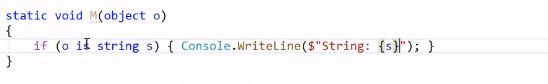 Figure 5: Pattern matching in C#