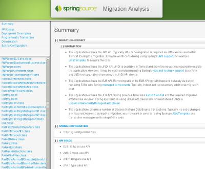 Spring Migration Analyzer Report