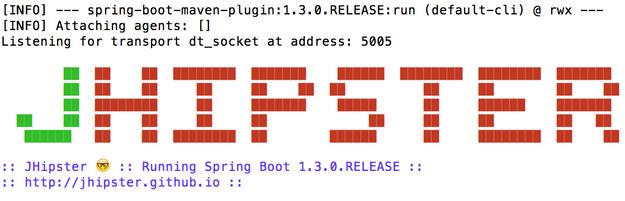 Spring Boot ASCII Art: JHipster