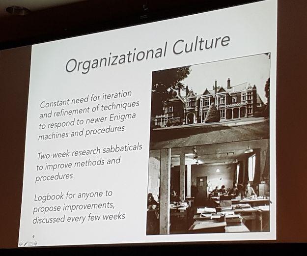 Bletchley Park organisation culture